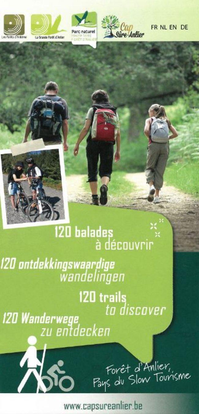 Carte randonnées capsureanlier.be